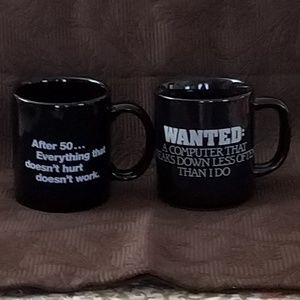 Other - Silly Coffee Cup/Mug Bundle 50 Years/Computer